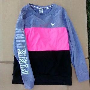 Victoria's Secret Pink color block pullover